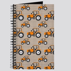 Orange Tractor Pattern Journal