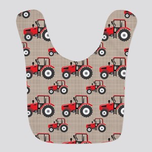 Red Tractor Pattern Bib