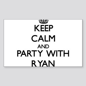 Keep calm and Party with Ryan Sticker