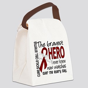 Sickle Cell Anemia BravestHero1 Canvas Lunch Bag