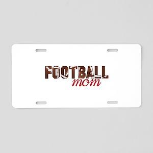 Foot Ball Mom Aluminum License Plate