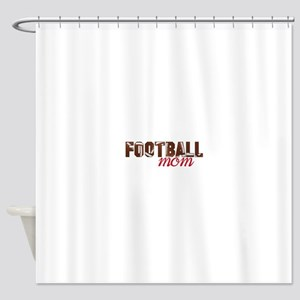 Foot Ball Mom Shower Curtain