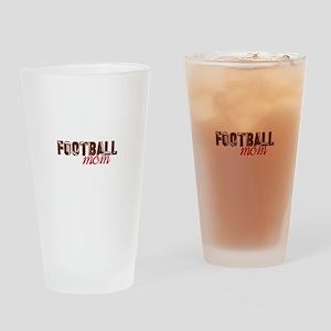 Foot Ball Mom Drinking Glass