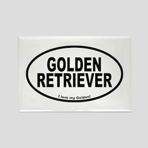 Golden Retriever Oval Rectangle Magnet