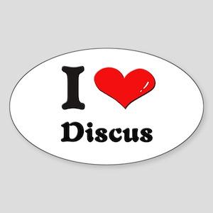 I love discus Oval Sticker