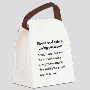 Read before asking Canvas Lunch Bag