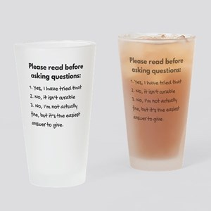 Read before asking Drinking Glass
