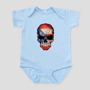 Puerto Rico Flag Skull Body Suit