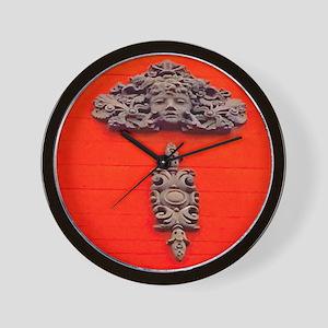 Red Goddess in Haight Asubry Wall Clock
