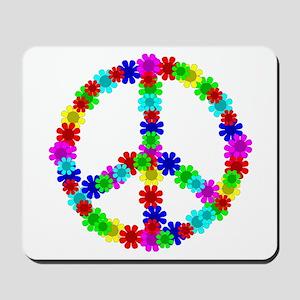 1960's Hippie Flowers Peace Mousepad