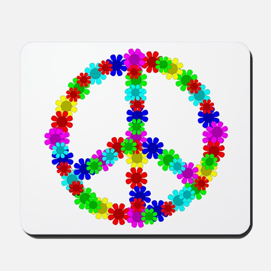 1960's Hippie Flowers Peace Mousepad