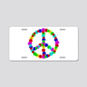 1960's Hippie Flowers Peace Aluminum License Plate