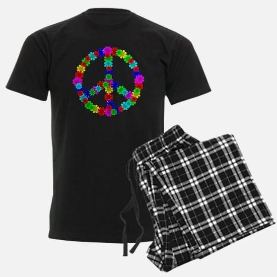 1960's Hippie Flowers Peace Pajamas