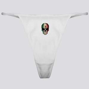 Mexican Flag Skull on Black Classic Thong
