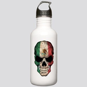 Mexican Flag Skull On Stainless Water Bottle 1.0l