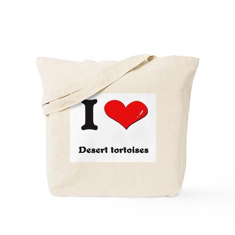 I love desert tortoises Tote Bag
