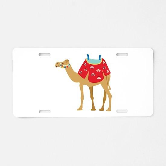 Desert Camel Aluminum License Plate