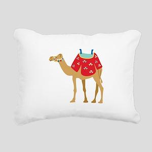 Desert Camel Rectangular Canvas Pillow