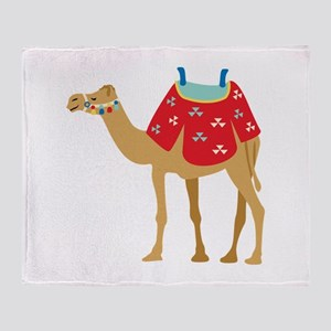 Desert Camel Throw Blanket