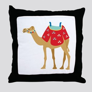 Desert Camel Throw Pillow