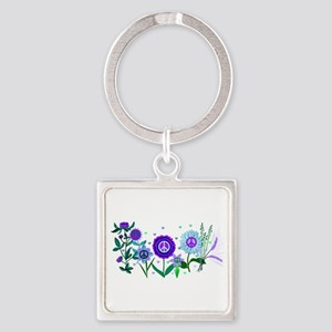 Growing Peace Square Keychain