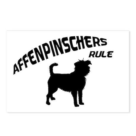 Affenpinschers Rule Postcards (Package of 8)