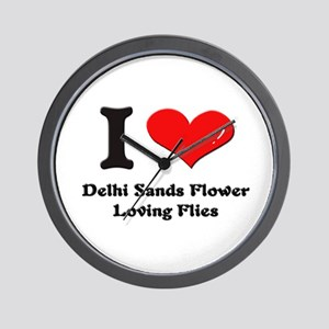 I love delhi sands flower-loving flies  Wall Clock