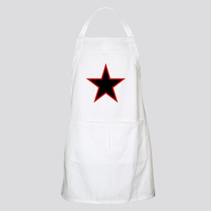 Red Trim Black Star Apron