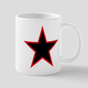Red Trim Black Star Mugs