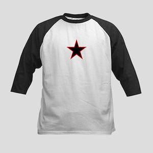 Red Trim Black Star Baseball Jersey