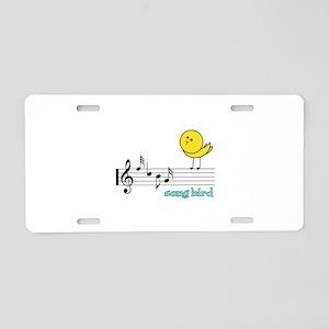 Song Bird Aluminum License Plate