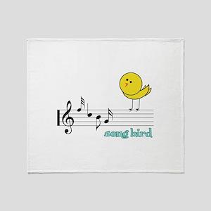 Song Bird Throw Blanket