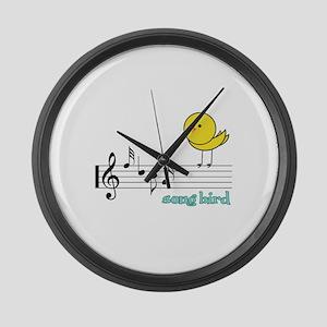Song Bird Large Wall Clock