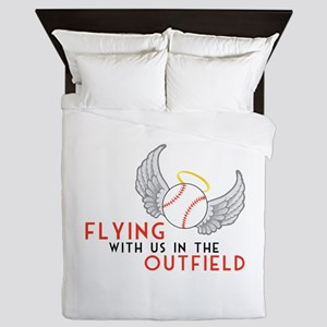 Flying With Us In The Outfield Queen Duvet