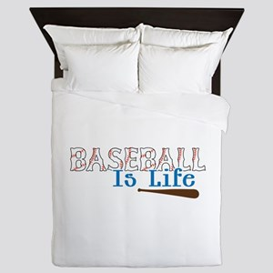 Baseball Is Life Queen Duvet