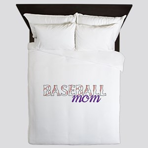 Baseball Mom Queen Duvet