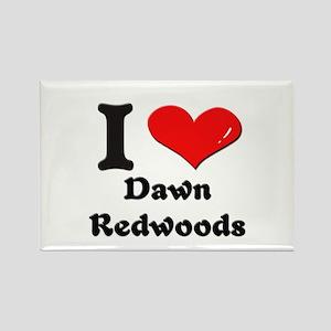 I love dawn redwoods Rectangle Magnet