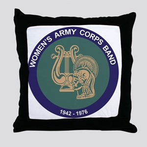 WAC Band Throw Pillow