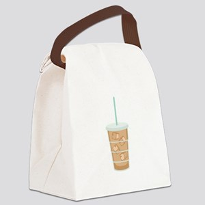 Iced Coffee Drink Canvas Lunch Bag