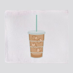 Iced Coffee Drink Throw Blanket