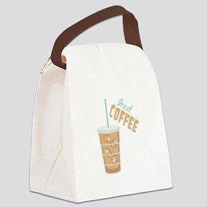 Iced Coffee Canvas Lunch Bag