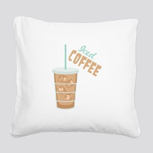 Iced Coffee Square Canvas Pillow