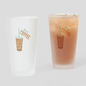 Iced Coffee Drinking Glass