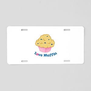 Love Muffin Aluminum License Plate