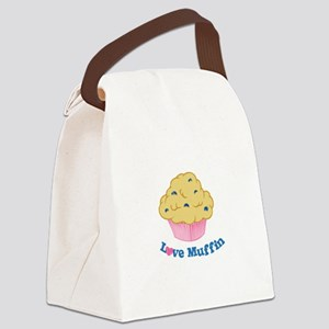 Love Muffin Canvas Lunch Bag