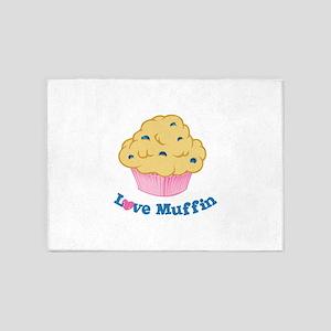 Love Muffin 5'x7'Area Rug