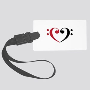 Bass Clef Heart Luggage Tag