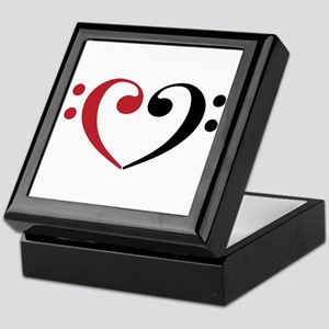 Bass Clef Heart Keepsake Box