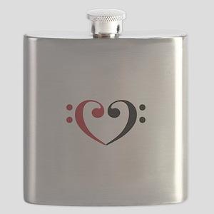 Bass Clef Heart Flask