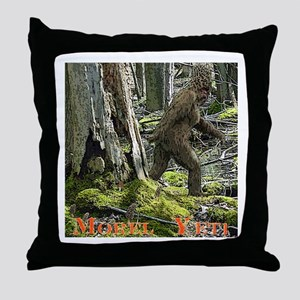 Morel Yeti Big foot gifts Throw Pillow